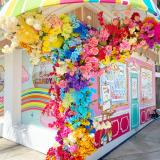 B.CANDY beautiful flower wall!