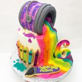 Artist paint bucket cake.