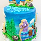 Llama Drama FORTNITE Party Cake!