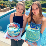 Off to College Cakes! Congrats girls!