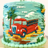 Fire Truck illustration on a Fire Department Cake!