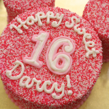 Simple Minnie Mouse inspired nonpareil cake!!