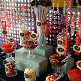 Movie Theater Themed Candy Bar at New Port Theater by B.CANDY