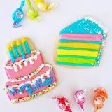 Birthday cake sugar cookies!
