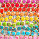 Sugar cookie buttons. Can be customized to fit your party needs!