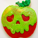 Poison apple sugar cookies for Halloween!