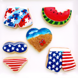 Fourth of July cookie assortment.