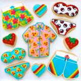 Party shirts & Pokemon bikini sugar cookies!