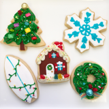 Christmas sugar  cookie assortment!