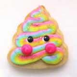 Rainbow poop emoji sugar cookie!