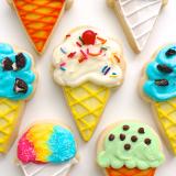 Ice cream cone sugar cookies!
