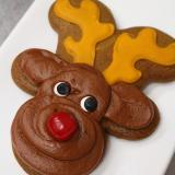 Reindeer gingerbread cookie.