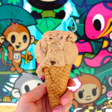 Coffee toffee ice cream!