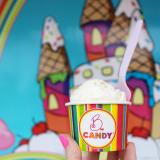 Just vanilla ice cream.