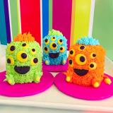 Monster mash mini cakes!