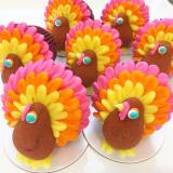 Thanksgiving Turkey mini cakes.