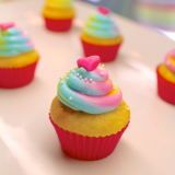 Sunshine & Rainbows Mini Cupcake - Lemon cupcake!