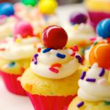 Birthday Cake Mini Cupcakes