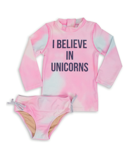 I Believe In Unicorns Rash Guard Set