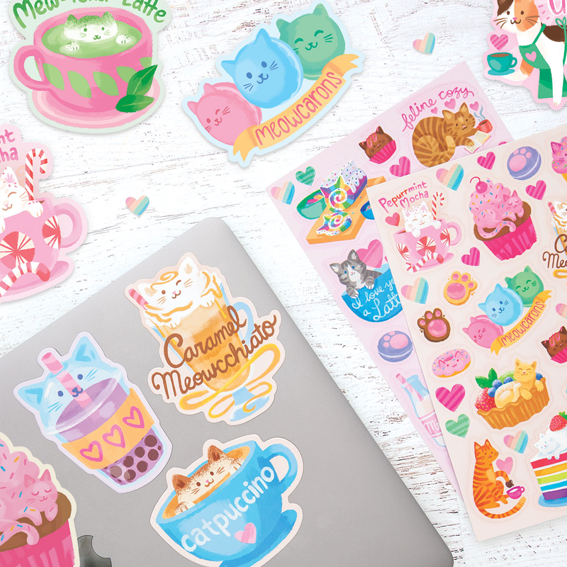 Ooly Cat Cafe Scented Stickers 2