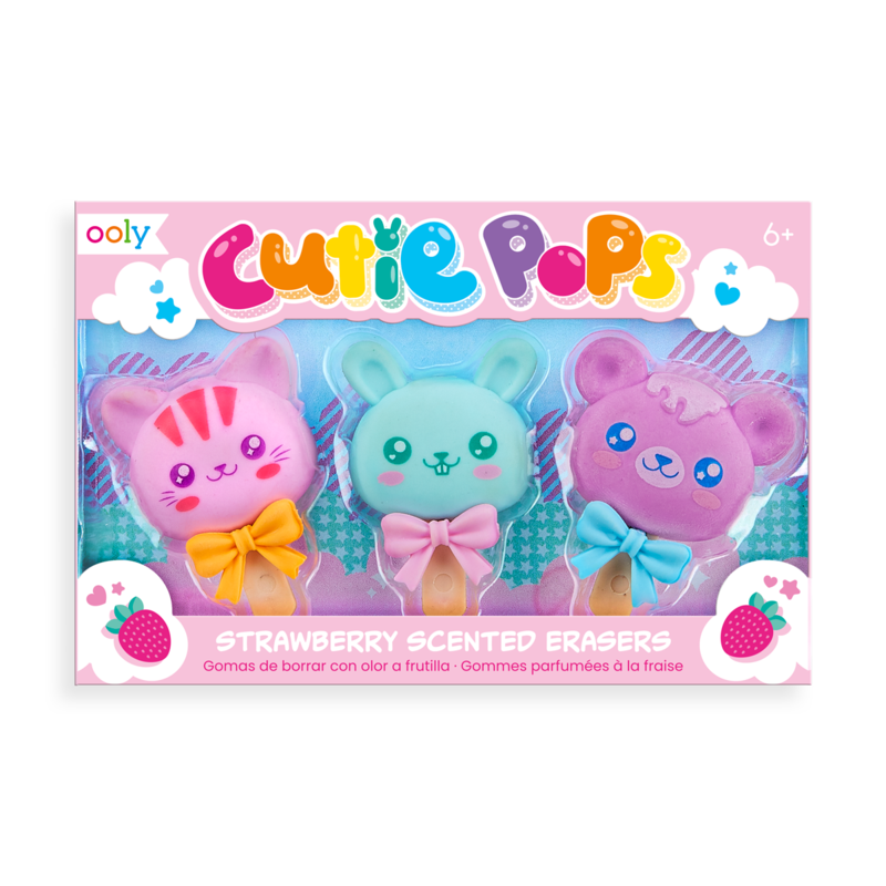 Cutie Pops Scented Erasers 1