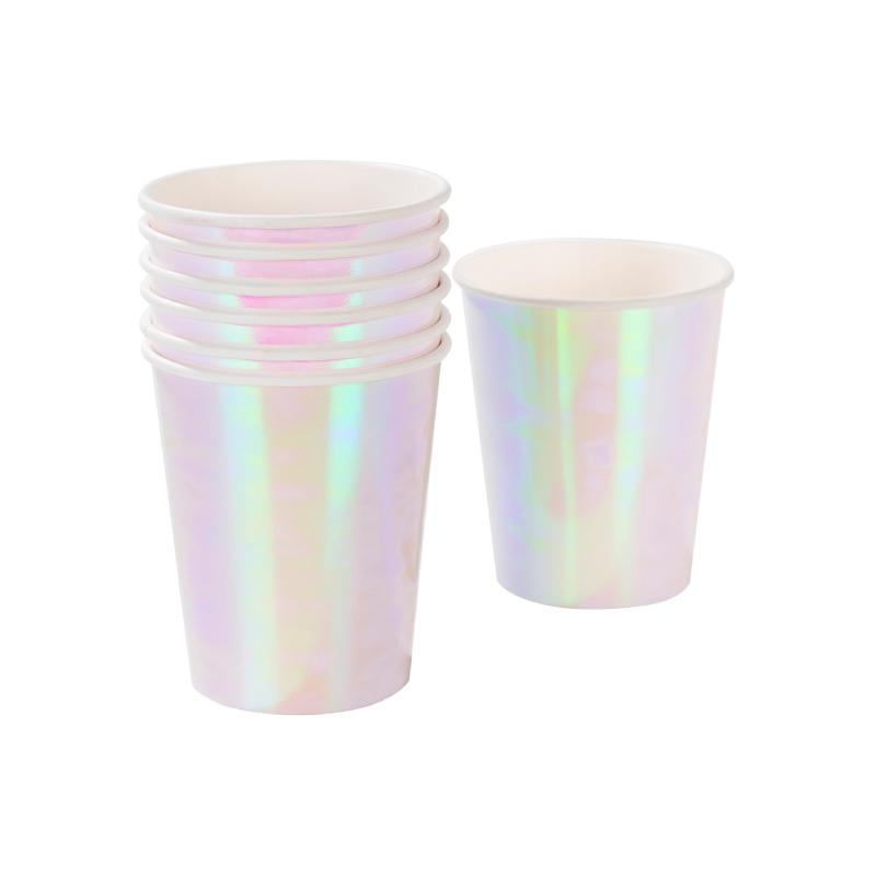 Iridescent Paper Cups 2