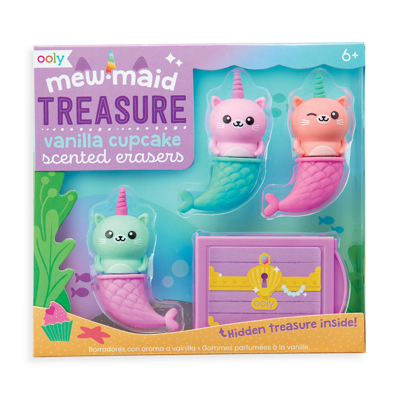 Mewmaid Treasure Scented Erasers 1