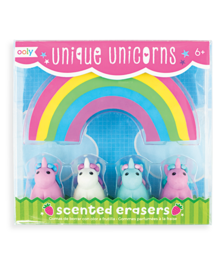 Unique Unicorns Scented Erasers 1