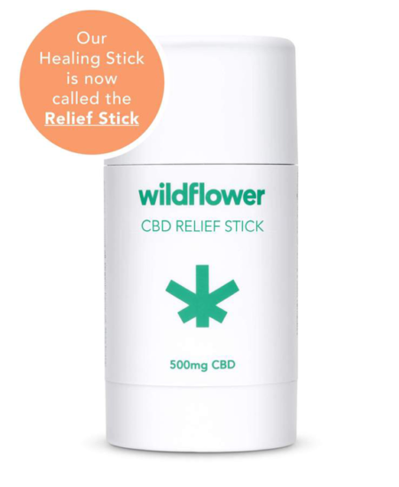 Wildflower CBD Relief Stick (500 mg) 1